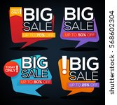 big sale speech bubbles ... | Shutterstock .eps vector #568602304