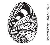 hand drawn ornamental easter... | Shutterstock .eps vector #568602430