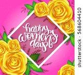 vector illustration of women's... | Shutterstock .eps vector #568604410