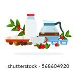 coffee branch  mug  cream ...   Shutterstock .eps vector #568604920