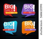 big sale stickers collection | Shutterstock .eps vector #568610590