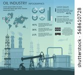 vector oil rig industry of... | Shutterstock .eps vector #568610728
