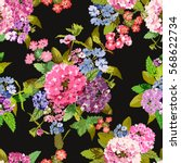 elegant seamless pattern with... | Shutterstock .eps vector #568622734