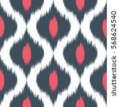 abstract ethnic ikat pattern... | Shutterstock .eps vector #568624540