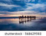 cable beach  western australia. ... | Shutterstock . vector #568629583