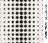 vector halftone dots. black... | Shutterstock .eps vector #568638658