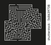 vector maze on black... | Shutterstock .eps vector #568639738