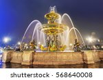 fountain at the place de la... | Shutterstock . vector #568640008