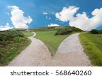 fork in the road concept image | Shutterstock . vector #568640260