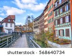 traditional half timbered... | Shutterstock . vector #568640734