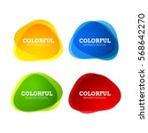 set of colorful round abstract... | Shutterstock .eps vector #568642270
