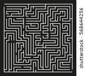 big vector maze on black... | Shutterstock .eps vector #568644256