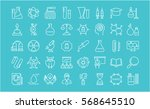 set vector line icons  sign and ... | Shutterstock .eps vector #568645510
