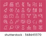 set vector line icons  sign and ... | Shutterstock .eps vector #568645570