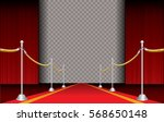 red carpet with stars and... | Shutterstock .eps vector #568650148
