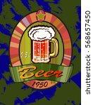 vector illustration of a beer... | Shutterstock .eps vector #568657450
