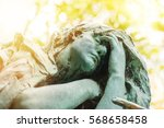 statue in the sunset of a...   Shutterstock . vector #568658458