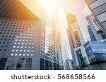 modern skyscrapers at sunset... | Shutterstock . vector #568658566
