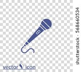 microphone vector icon | Shutterstock .eps vector #568660534