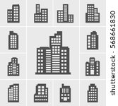 icons building vector...
