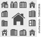 building icons vector... | Shutterstock .eps vector #568661836