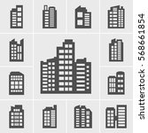 building icons illustration set | Shutterstock .eps vector #568661854