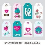 set colored valentine's day...   Shutterstock .eps vector #568662163
