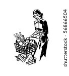 thrifty shopper   retro clip art | Shutterstock .eps vector #56866504