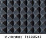 Small photo of Acoustic absorbing foam for studio recording. Pyramid shape.