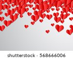 valentines day card with...   Shutterstock .eps vector #568666006