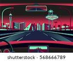 las vegas skyline | Shutterstock .eps vector #568666789