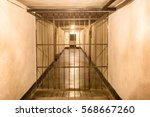 prison cell with jail iron bars ...
