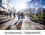 crowd of anonymous people... | Shutterstock . vector #568668400