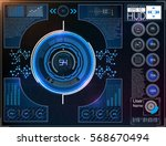 hud background outer space.... | Shutterstock .eps vector #568670494