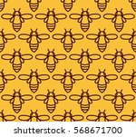 seamless pattern with orange... | Shutterstock .eps vector #568671700