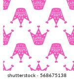 crown little princess  vector ... | Shutterstock .eps vector #568675138