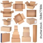 Cardboard Boxes In Various...