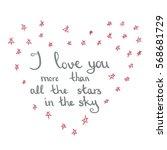 handwritten valentine's day... | Shutterstock .eps vector #568681729
