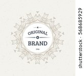 vintage frame for luxury logos  ... | Shutterstock .eps vector #568685929