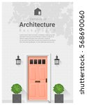 elements of architecture  ... | Shutterstock .eps vector #568690060
