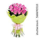 Stock photo flower bouquet of pink roses 568690510