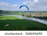 Paragliding Over The River...