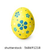 Yellow Easter Egg With Blue...