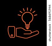 idea icon flat.  | Shutterstock .eps vector #568691944