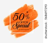 sale special offer 50  off sign ... | Shutterstock .eps vector #568697293