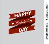 happy valentine's day card | Shutterstock .eps vector #568698280