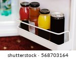 mini referegiretor in a hotel... | Shutterstock . vector #568703164