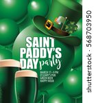 saint paddys day party... | Shutterstock .eps vector #568703950
