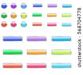 set of bright colorful buttons... | Shutterstock .eps vector #568704778