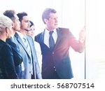 business people meeting in a...   Shutterstock . vector #568707514
